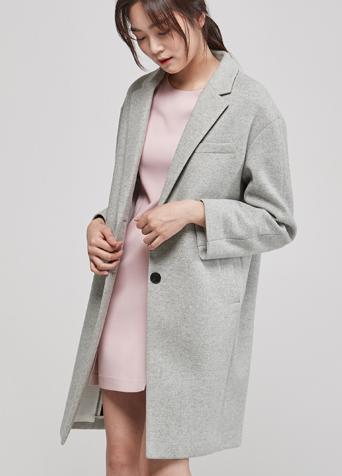 모던 헤링본 코트
