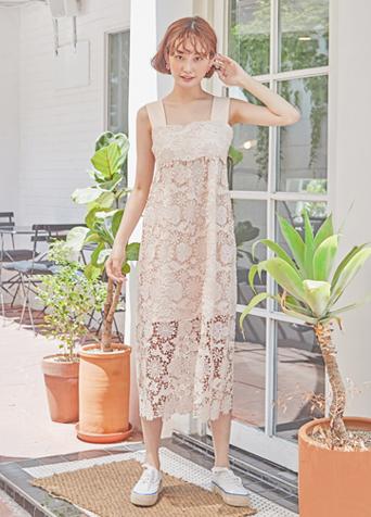 보헤미안 레이스 드레스