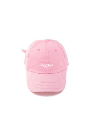 핑크 레터링 캡 모자