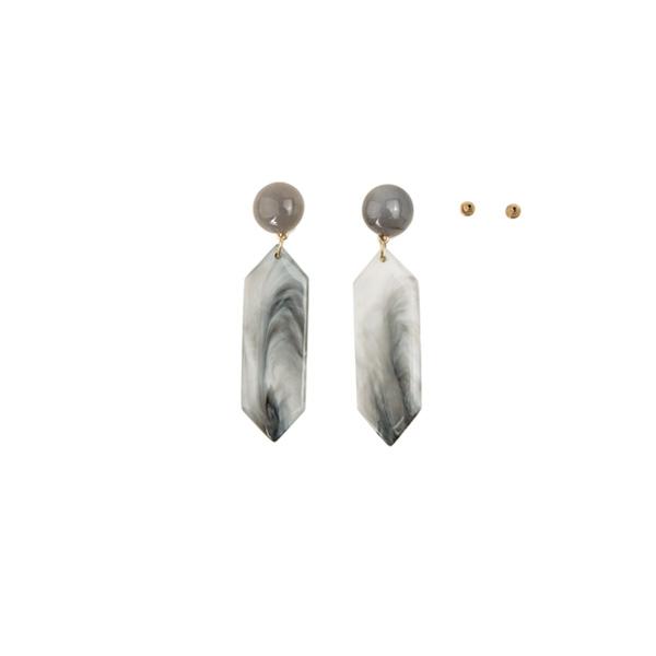 (E-1178)롱 스톤 귀걸이