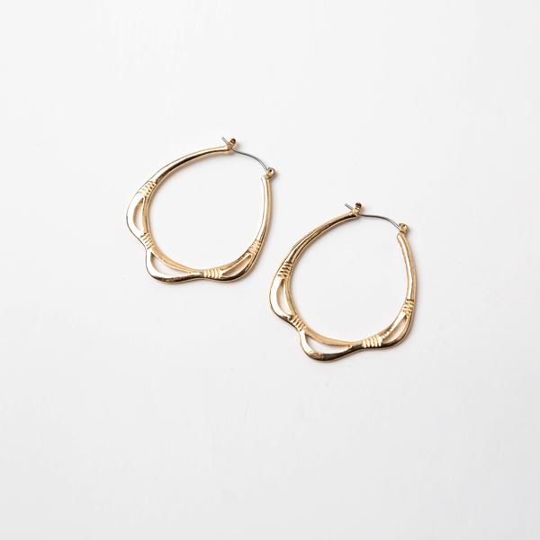(E-1193)스캘럽 링 귀걸이