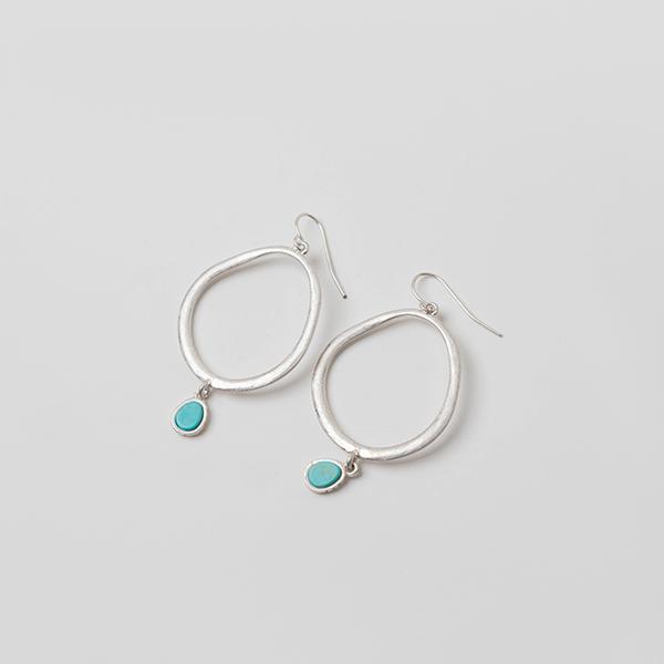 (E-1219)컬러 후프 귀걸이