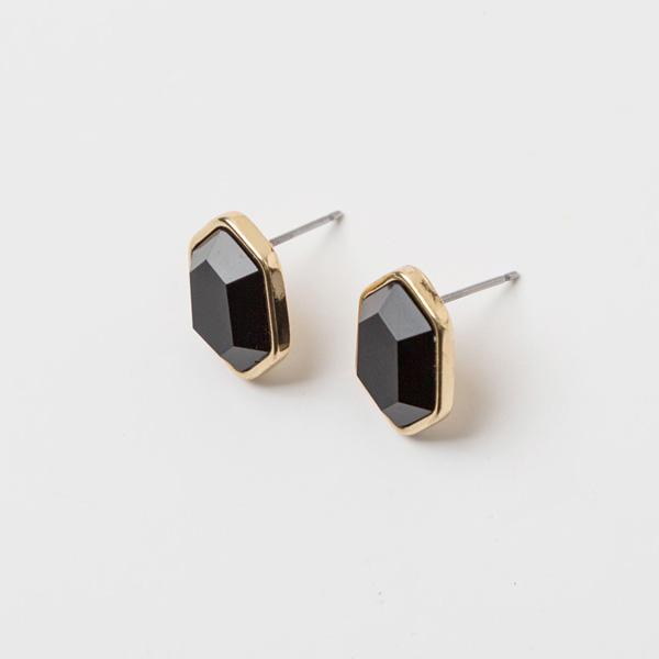 (E-1201)육각 스톤 귀걸이