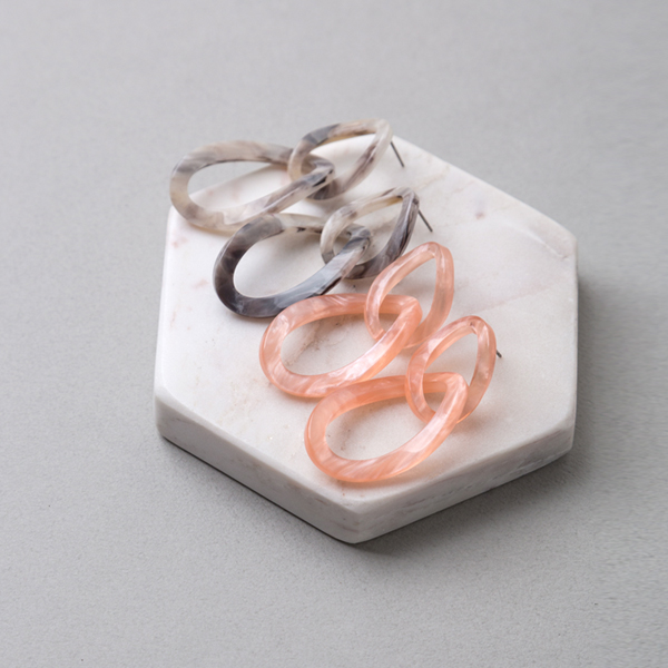 (E-1225)마블 레이어드 귀걸이