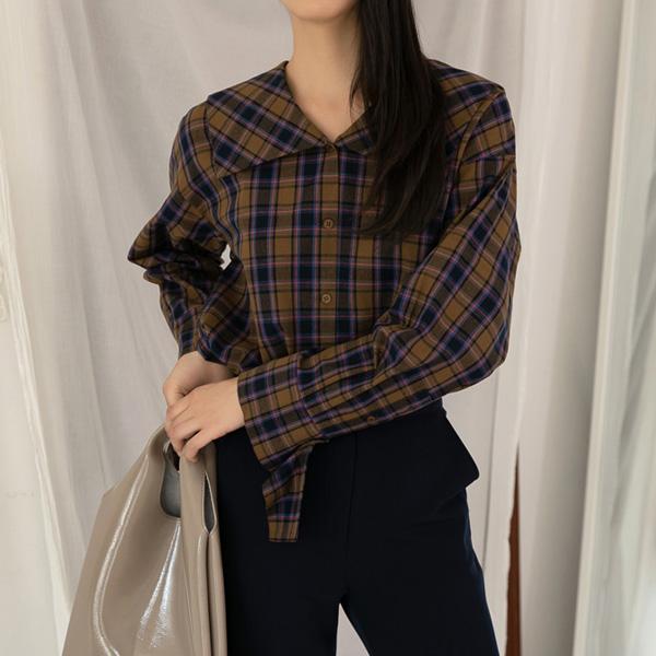(BL-2865)빅카라 체크 셔츠