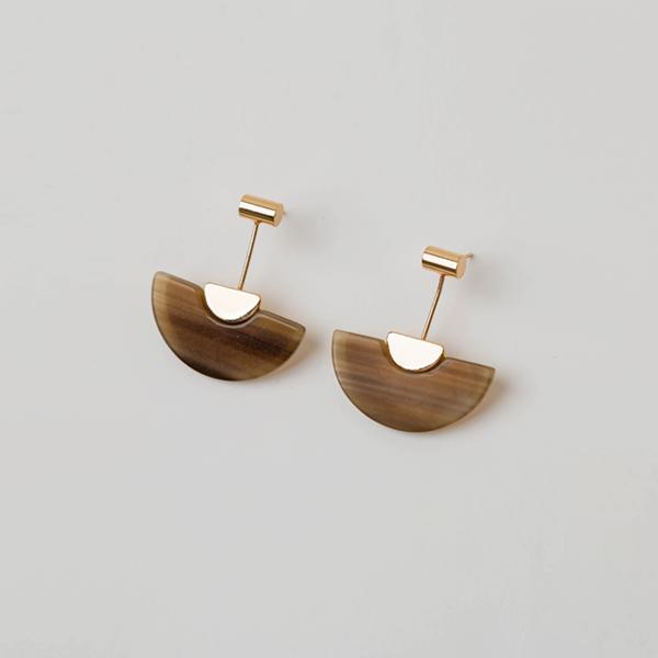 (E-1185)하프 문 귀걸이