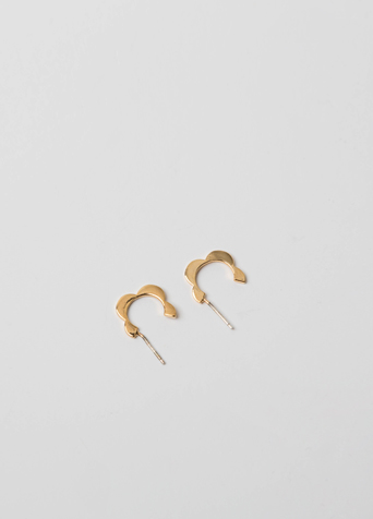 물결 고리 귀걸이