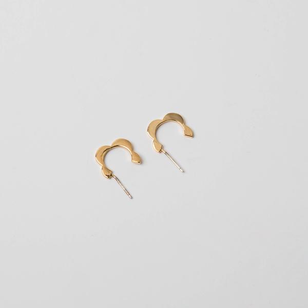 (E-1202)물결 고리 귀걸이