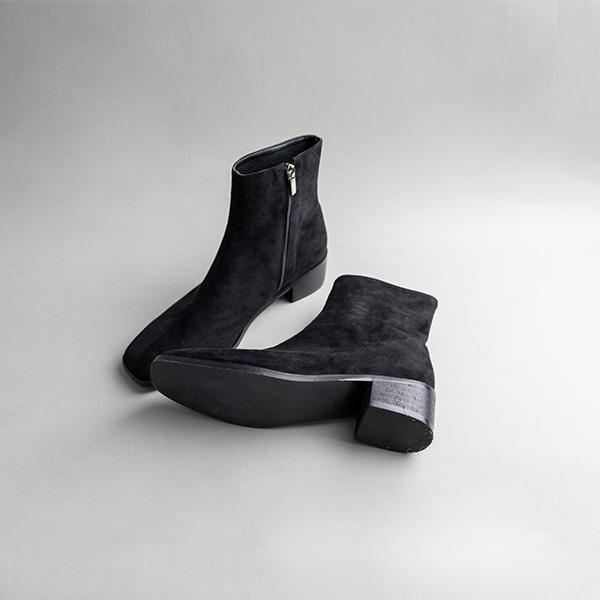 (SH-2487)스웨이드 미들 플랫 부츠