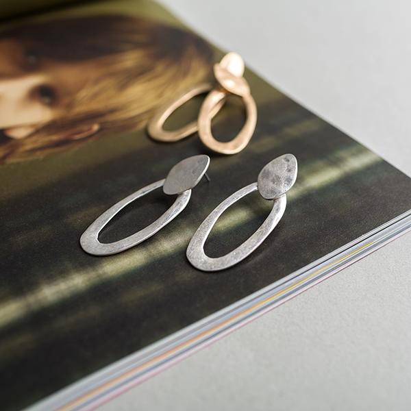 (E-1237)라운드 레이어드 귀걸이