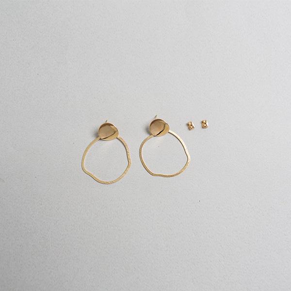 (E-1243)러프 커팅 메탈 귀걸이