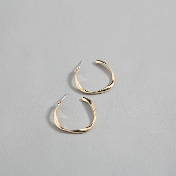(E-1280)웨이브 링 귀걸이