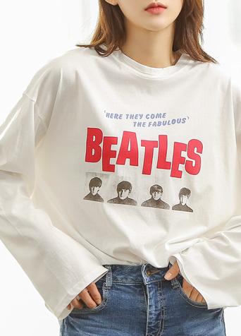 비틀즈 프린팅 티