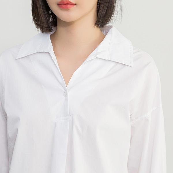 (BL-3202)모던 솔리드 셔츠 블라우스