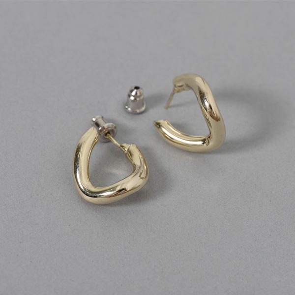 (E-1361)미니멀 웨이브 귀걸이