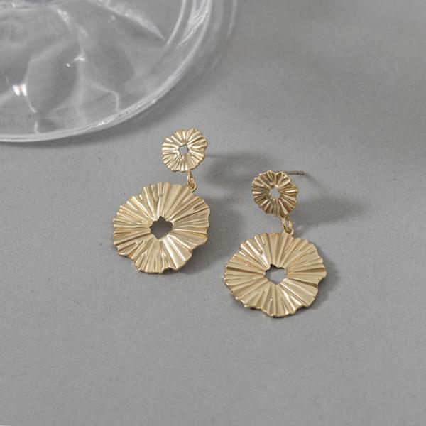 (E-1356)플라워 플레이트 귀걸이